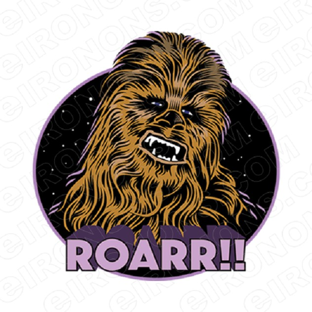 STAR WARS CHEWIE ROARR!! MOVIE T-SHIRT IRON-ON TRANSFER DECAL #MSW2