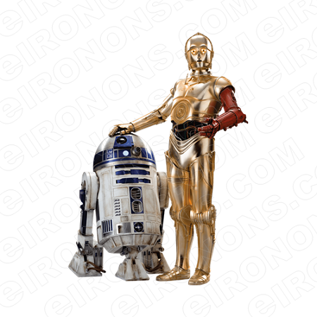 STAR WARS R2-D2 AND C3PO MOVIE T-SHIRT IRON-ON TRANSFER DECAL #MSW9