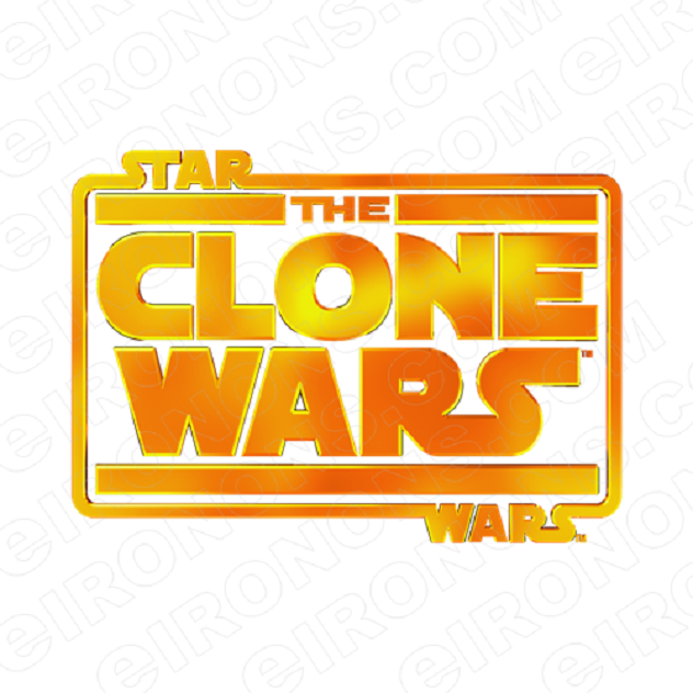 STAR WARS THE CLONE WARS LOGO MOVIE T-SHIRT IRON-ON TRANSFER DECAL #MSW16