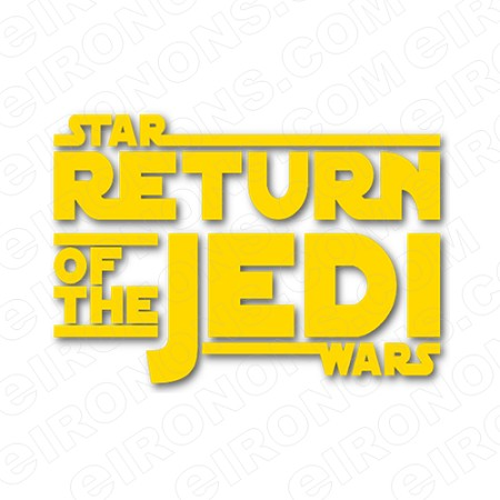 STAR WARS THE RETURN OF THE JEDI LOGO MOVIE T-SHIRT IRON-ON TRANSFER DECAL #MSW17