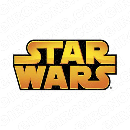 STAR WARS LOGO MOVIE T-SHIRT IRON-ON TRANSFER DECAL #MSW7