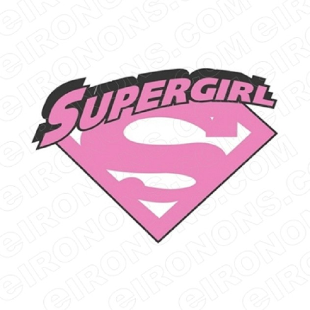 SUPERGIRL LOGO COMIC T-SHIRT IRON-ON TRANSFER DECAL #CSG1