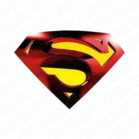 SUPERMAN LOGO RED AND YELLOW COMIC T-SHIRT IRON-ON TRANSFER DECAL #CS6