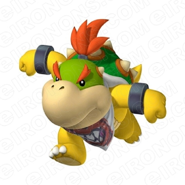 SUPER MARIO BOWSER JR RUNNING VIDEO GAME T-SHIRT IRON-ON TRANSFER DECAL #VGSM15