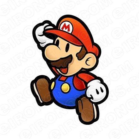 SUPER MARIO SITTING VIDEO GAME T-SHIRT IRON-ON TRANSFER DECAL #VGSM29