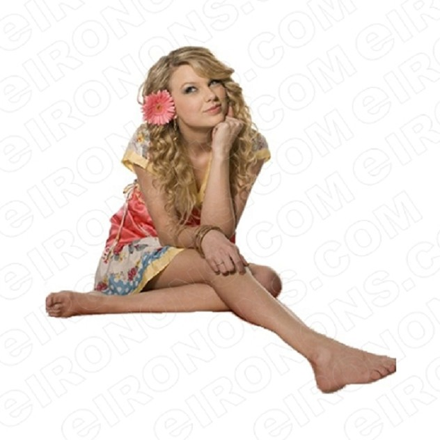 TAYLOR SWIFT FLOWER IN HAIR MUSIC T-SHIRT IRON-ON TRANSFER DECAL #MTS11