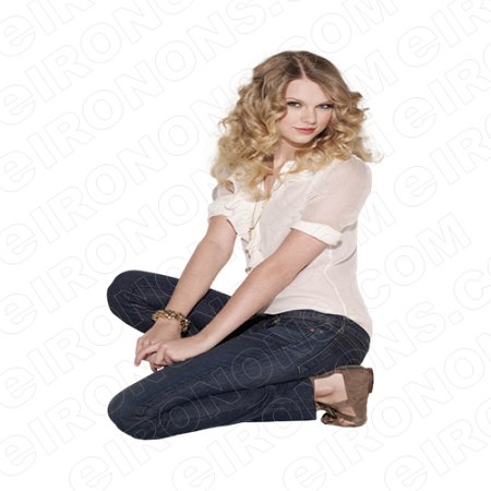 TAYLOR SWIFT IN JEANS MUSIC T-SHIRT IRON-ON TRANSFER DECAL #MTS12