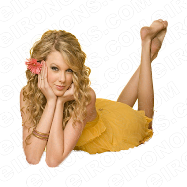 TAYLOR SWIFT IN YELLOW MUSIC T-SHIRT IRON-ON TRANSFER DECAL #MTS14
