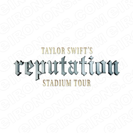 TAYLOR SWIFT REPUTATION STADIUM TOUR LOGO MUSIC T-SHIRT IRON-ON TRANSFER DECAL #MTS17