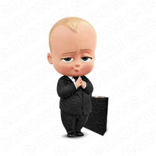 THE BOSS BABY HANDS TOGETHER CHARACTER T-SHIRT IRON-ON TRANSFER DECAL #CTBB3