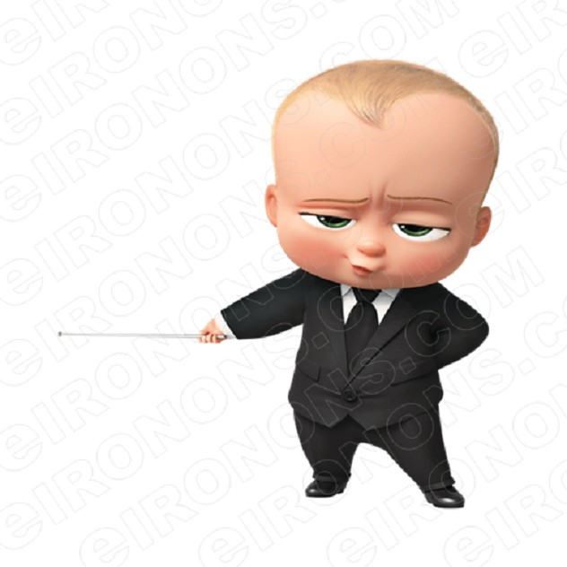 THE BOSS BABY POINTING CHARACTER T-SHIRT IRON-ON TRANSFER DECAL #CTBB7