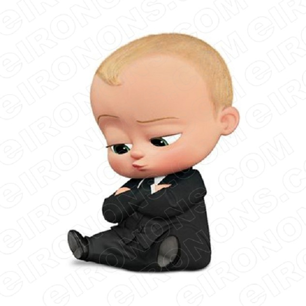 THE BOSS BABY SITTING ARMS CROSSED CHARACTER T-SHIRT IRON-ON TRANSFER DECAL #CTBB8