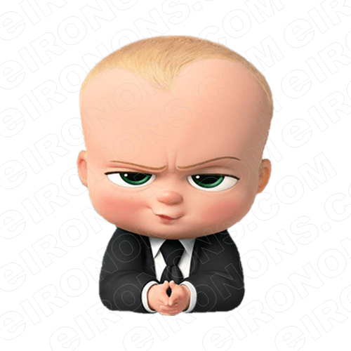 THE BOSS BABY UP CLOSE CHARACTER T-SHIRT IRON-ON TRANSFER DECAL #CTBB12