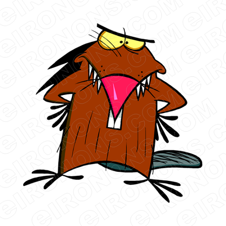 THE ANGRY BEAVERS DAGGETT MAD CHARACTER T-SHIRT IRON-ON TRANSFER DECAL #CTAB2