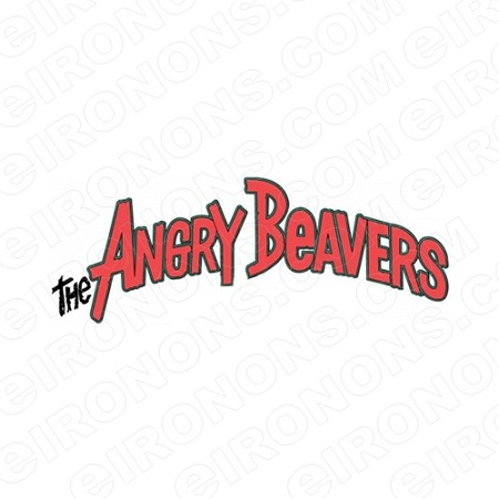 THE ANGRY BEAVERS LOGO CHARACTER T-SHIRT IRON-ON TRANSFER DECAL #CTAB4