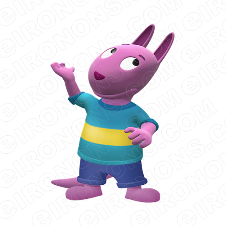 THE BACKYARDIGANS AUSTIN HAND UP CHARACTER T-SHIRT IRON-ON TRANSFER DECAL #CTBY2