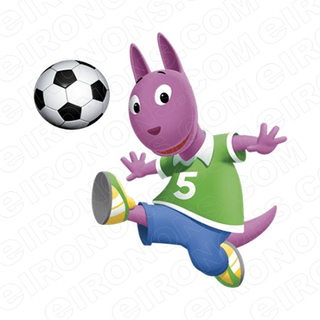 THE BACKYARDIGANS AUSTIN PLAYING FOOTBALL CHARACTER T-SHIRT IRON-ON TRANSFER DECAL #CTBY4