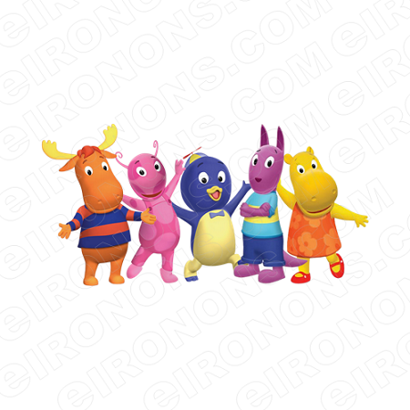 THE BACKYARDIGANS GROUP POSE CHARACTER T-SHIRT IRON-ON TRANSFER DECAL #CTBY5