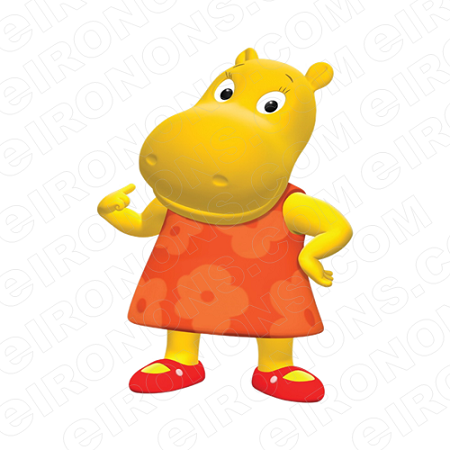 THE BACKYARDIGANS TASHA POINTING CHARACTER T-SHIRT IRON-ON ...