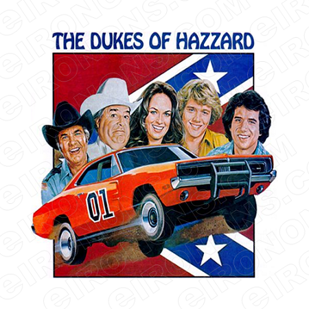 THE DUKES OF HAZZARD GROUP POSE MOVIE TV T-SHIRT IRON-ON TRANSFER DECAL #TDOH2
