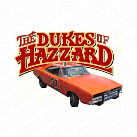 THE DUKES OF HAZZARD LOGO AND GENERALLEE MOVIE TV T-SHIRT IRON-ON TRANSFER DECAL #TDOH4