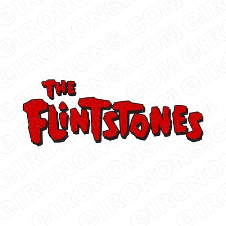 THE FLINTSTONES LOGO TV T-SHIRT IRON-ON TRANSFER DECAL #TVTF12