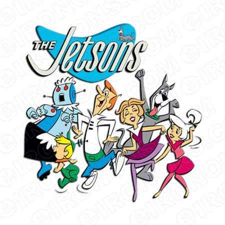 THE JETSONS AND LOGO CHARACTER T-SHIRT IRON-ON TRANSFER DECAL #CTJ3