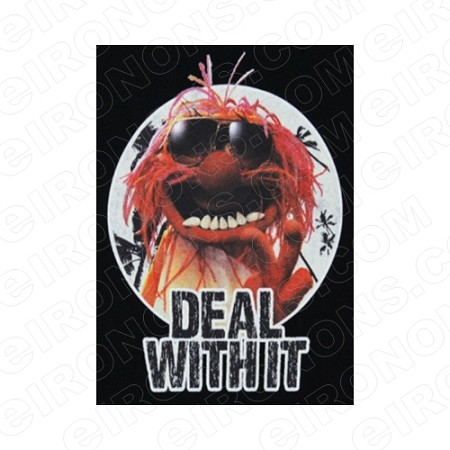 THE MUPPETS ANIMAL DEAL WITH IT TV T-SHIRT IRON-ON TRANSFER DECAL #TVTM2