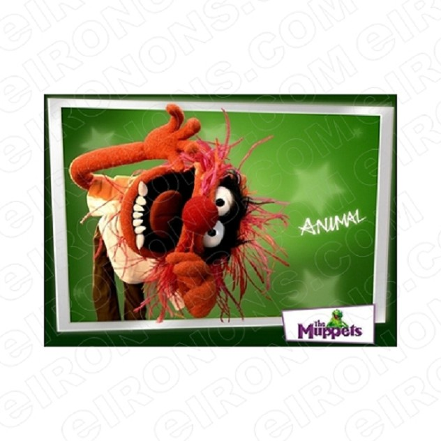 THE MUPPETS ANIMAL TV T-SHIRT IRON-ON TRANSFER DECAL #TVTM4