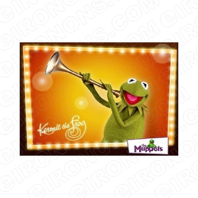 THE MUPPETS KERMIT THE FROG HORN TV T-SHIRT IRON-ON TRANSFER DECAL #TVTM11