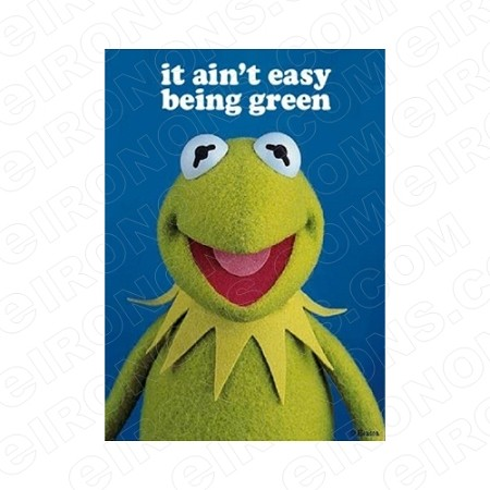 THE MUPPETS KERMIT THE FROG IT AIN'T EASY BEING GREEN TV T-SHIRT IRON-ON TRANSFER DECAL #TVTM12