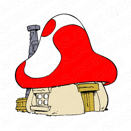 THE SMURFS GARGAMELS HOUSE CHARACTER T-SHIRT IRON-ON TRANSFER DECAL #CTS6