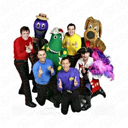THE WIGGLES GROUP POSE CHARACTER T-SHIRT IRON-ON TRANSFER DECAL #CTW3