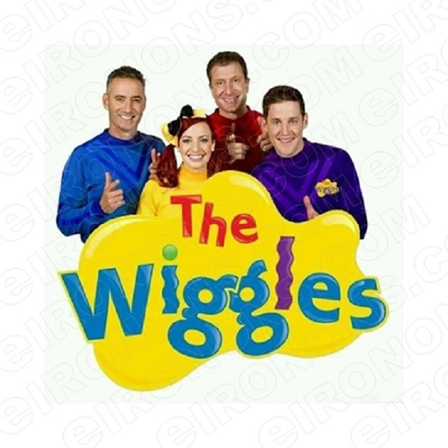 THE WIGGLES LOGO CHARACTER T-SHIRT IRON-ON TRANSFER DECAL #CTW7