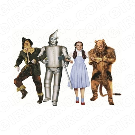 THE WIZARD OF OZ GROUP POSE 4 MOVIE T-SHIRT IRON-ON TRANSFER DECAL #MWOO5