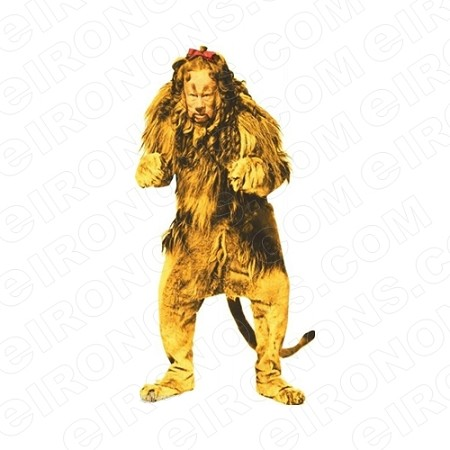 THE WIZARD OF OZ COWARDLY LION MOVIE T-SHIRT IRON-ON TRANSFER DECAL #MWOO8