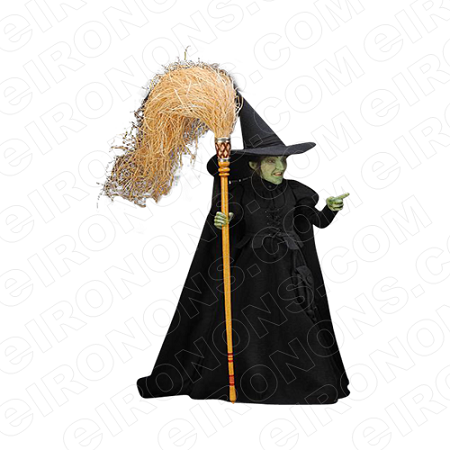 THE WIZARD OF OZ WICKED WITCH HOLDING BROOM MOVIE T-SHIRT IRON-ON TRANSFER DECAL #MWOO11