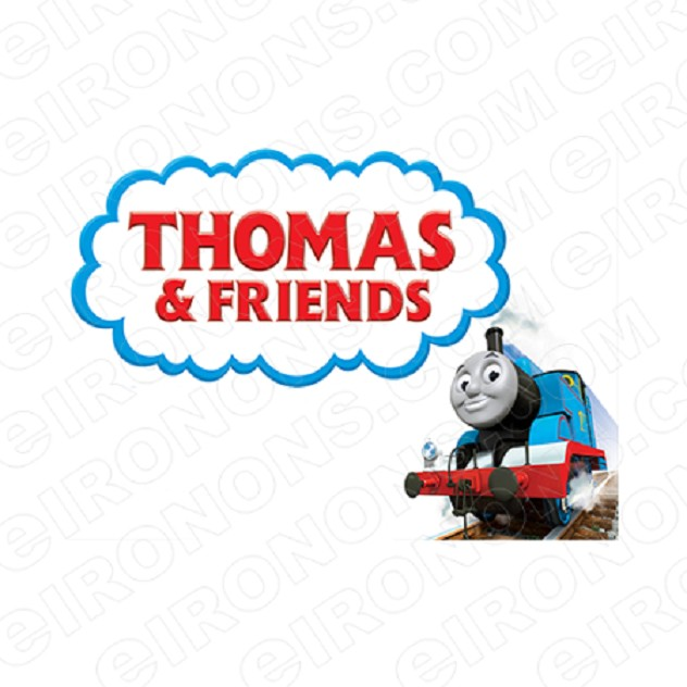 THOMAS & FRIENDS LOGO CHARACTER T-SHIRT IRON-ON TRANSFER DECAL #CTAF3
