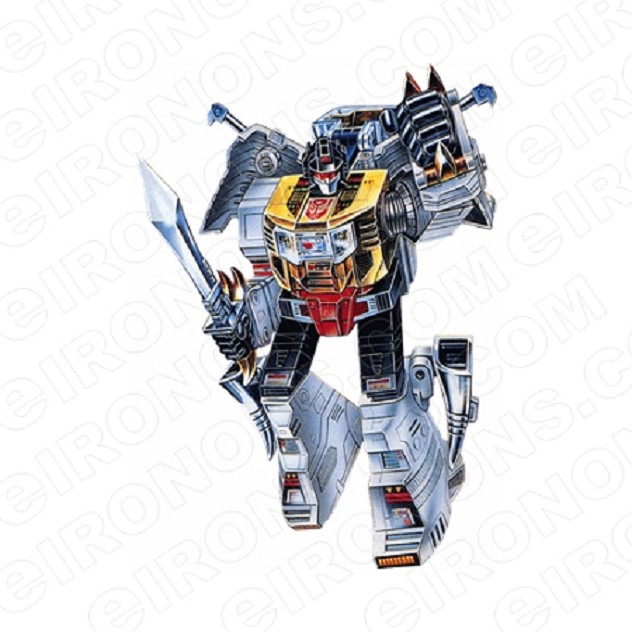 TRANSFORMERS DINOBOT GRIMLOCK READY AUTOBOTS TV T-SHIRT IRON-ON TRANSFER DECAL #TVTS23