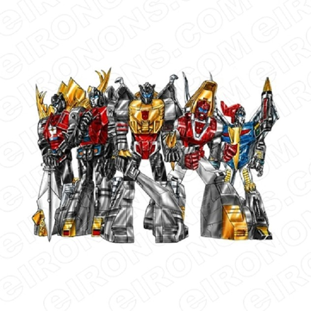 TRANSFORMERS DINOBOTS GROUP POSE 2 AUTOBOTS TV T-SHIRT IRON-ON TRANSFER DECAL #TVTS27