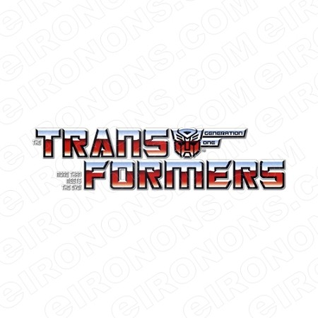 TRANSFORMERS LOGO AUTOBOTS GENERATION ONE TV T-SHIRT IRON-ON TRANSFER DECAL #TVTS15