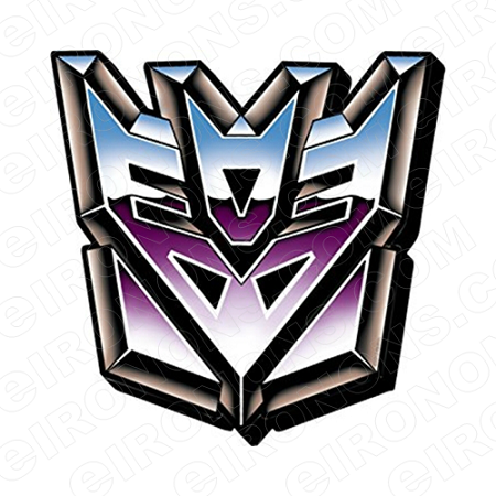 TRANSFORMERS LOGO DECEPTICONS TV T-SHIRT IRON-ON TRANSFER DECAL #TVTS14