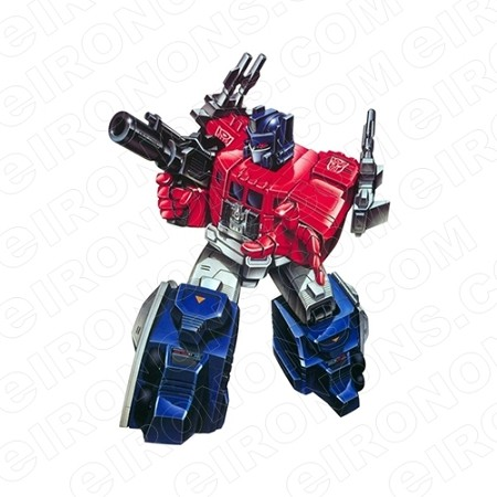 transformers optimus prime gun out autobots tv t shirt iron on