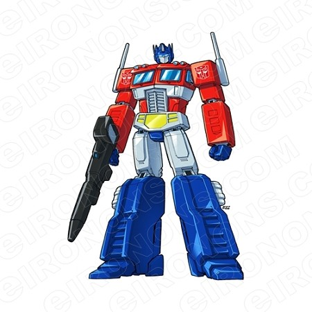 TRANSFORMERS OPTIMUS PRIME READY AUTOBOTS TV T-SHIRT IRON-ON TRANSFER DECAL #TVTS9