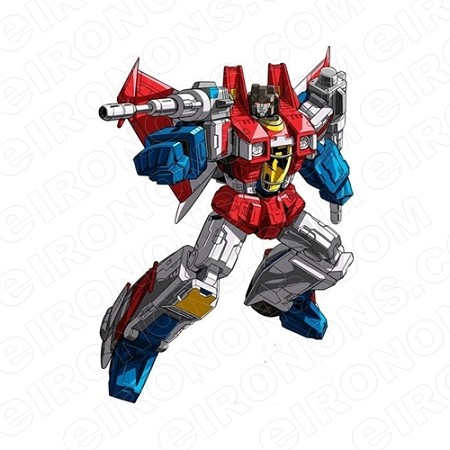 TRANSFORMERS STARSCREAM AIMING DECEPTICONS TV T-SHIRT IRON-ON TRANSFER DECAL #TVTS13