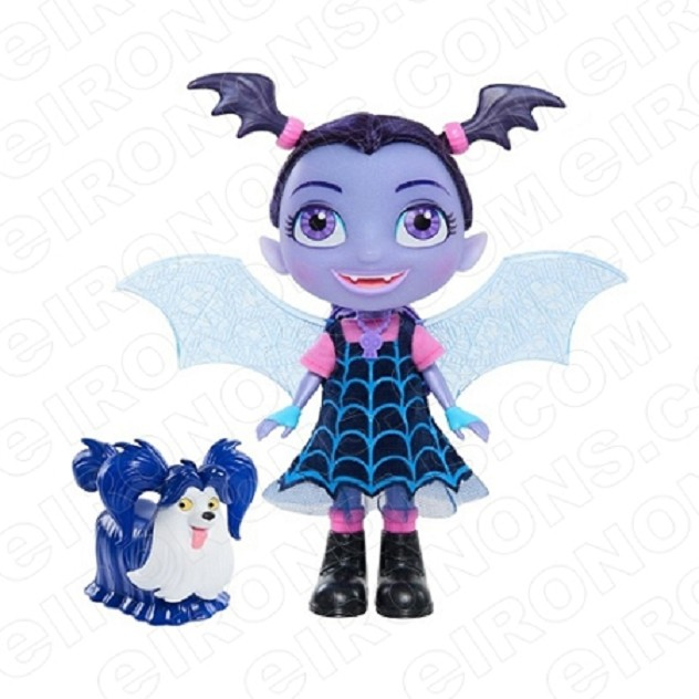 VAMPIRINA VEE HAUNTLY AND WOLFIE CHARACTER T-SHIRT IRON-ON TRANSFER DECAL #CV8