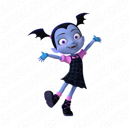 VAMPIRINA VEE HAUNTLY HANDS OUT CHARACTER T-SHIRT IRON-ON TRANSFER DECAL #CV6