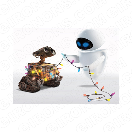 WALL-E AND EVE MOVIE TV T-SHIRT IRON-ON TRANSFER DECAL #WE1