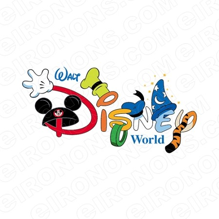 WALT DISNEY WORLD DISNEY VACATION T-SHIRT IRON-ON TRANSFER DECAL #DV6