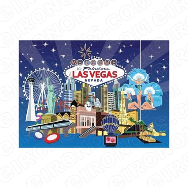 WELCOME TO FABULOUS LAS VEGAS NEVADA T-SHIRT IRON-ON TRANSFER DECAL #LVS6